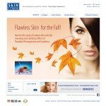 Website Design for skin care company Skin Fitness