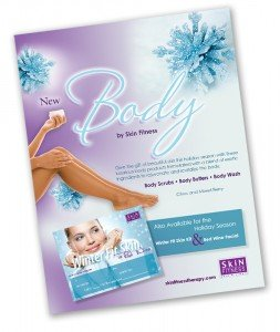 Flyer design for skin care products