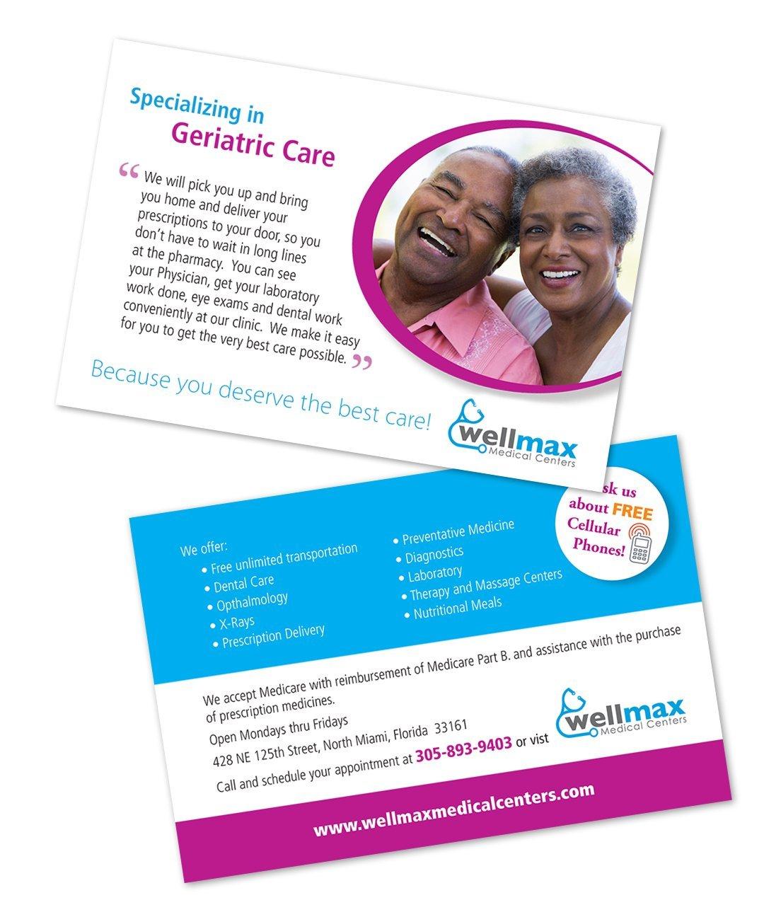 postcard design - medical
