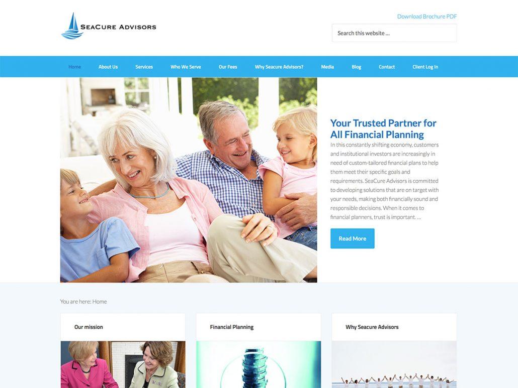 Website for financial advisor